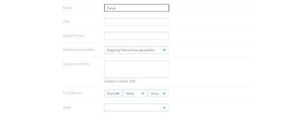Modifica profilo Skype da browser