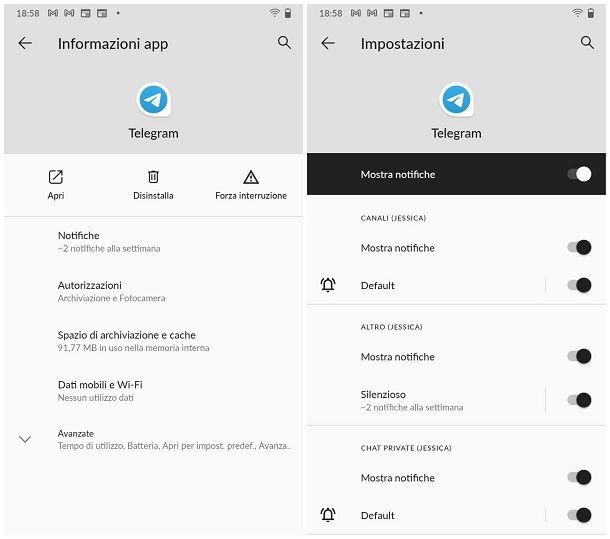 Come attivare le notifiche push: Android