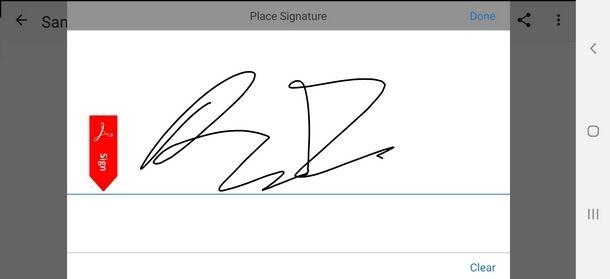Aggiungere una firma su PDF da smartphone e tablet
