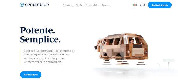 home page sendinblue