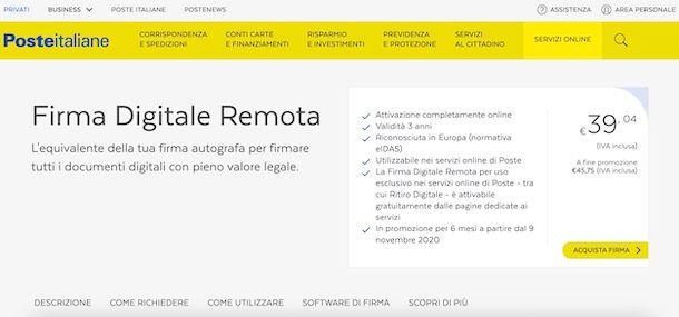 Firma Poste Italiane