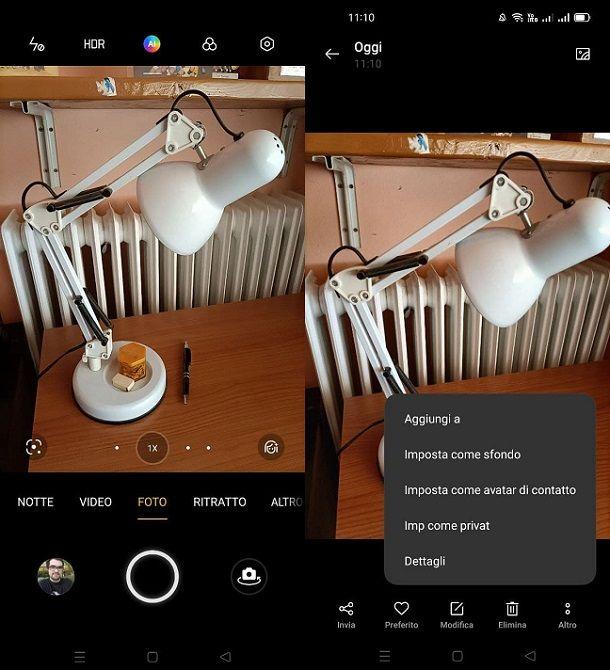 Imposta foto come sfondo Android