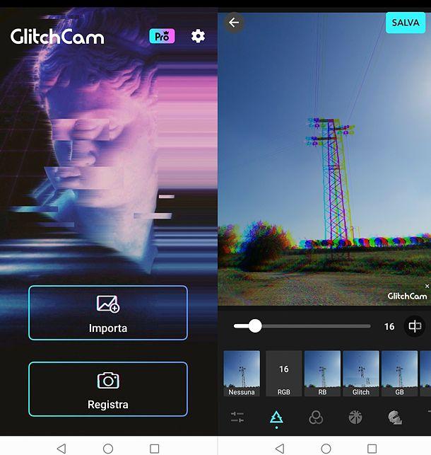 Come fare una foto Aesthetic con Glitch Cam
