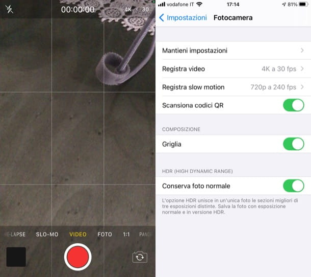 App Fotocamera iPhone