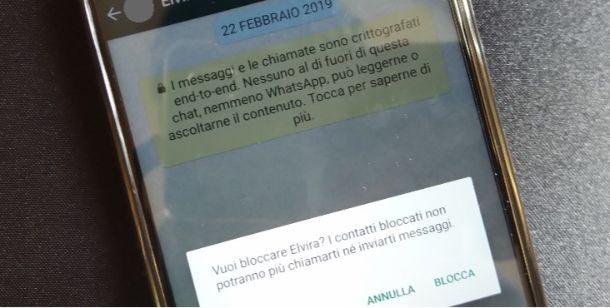 Bloccare persone WhatsApp