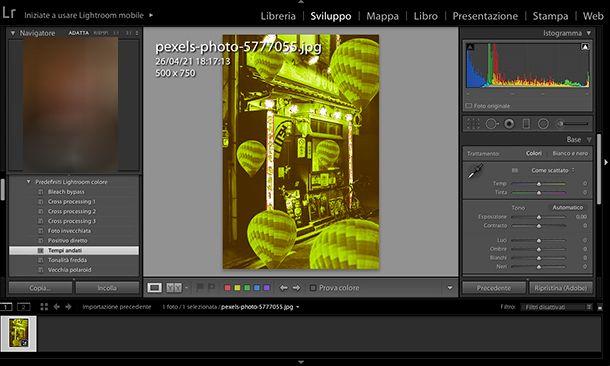 Come fare foto Aesthetic da PC con Lightroom
