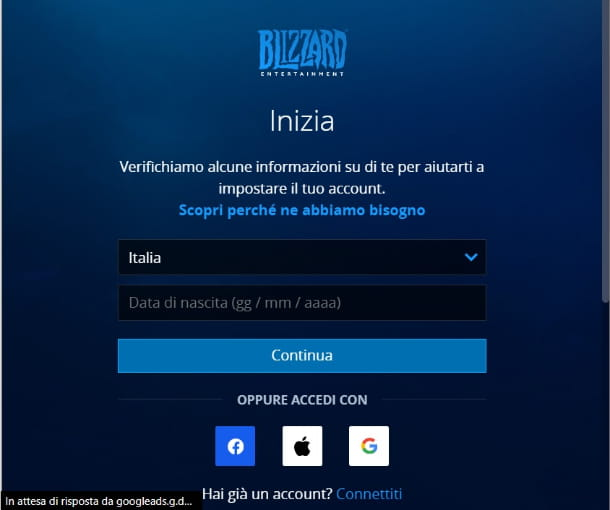 Account Blizzard