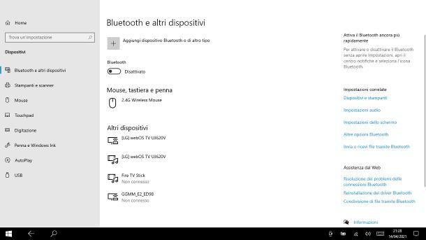 Come collegare la tastiera al tablet: Windows