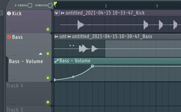 schermata clip volume fl studio