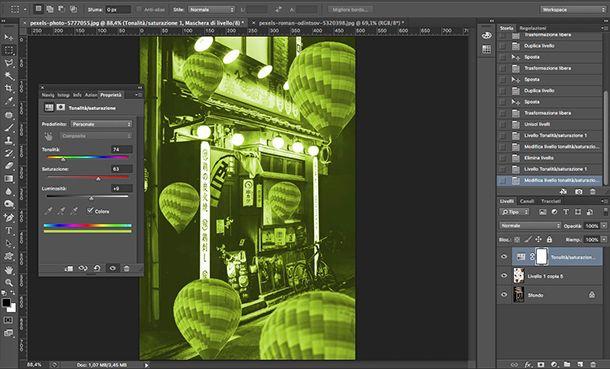 Come fare foto Aesthetic da PC con Photoshop Tonalità Saturazione