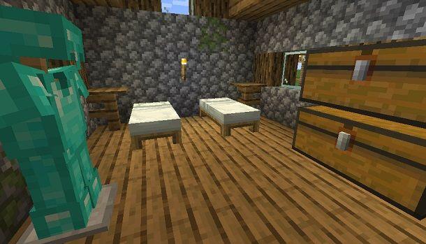 creare camera da letto su Minecraft