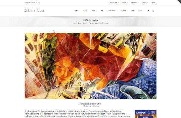 Pagina principale di Liber Liber