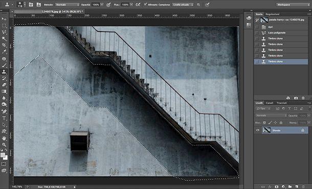 Come fare le ombre su Photoshop Modifica sfondo irregolare