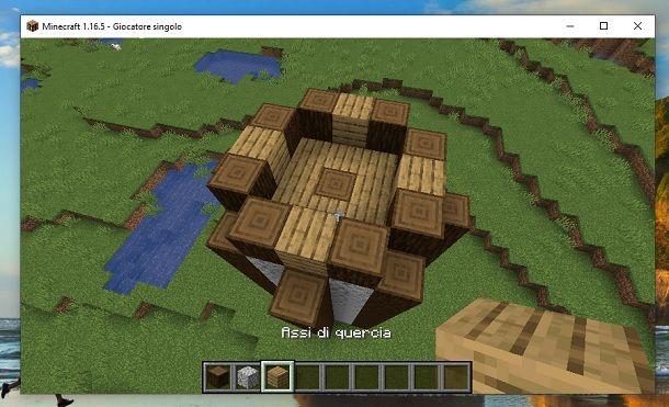 Copri piano intermedio torre Minecraft