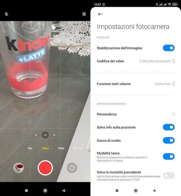 Registrare video su Android