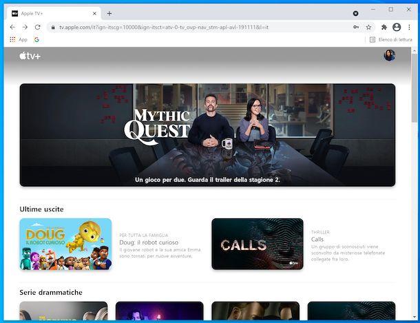 Apple TV\+ da browser