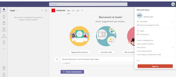 Teams Microsoft da browser