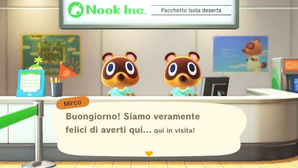 Inizio di Animal Crossing