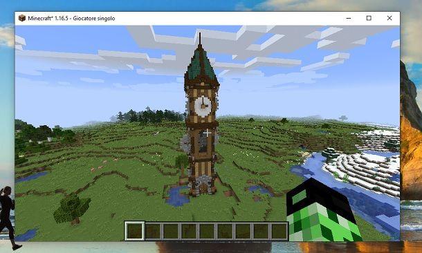 Come fare una torre orologio su Minecraft