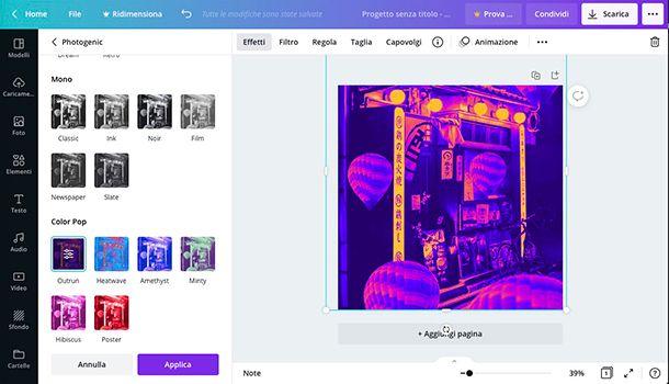Come fare foto Aesthetic online con Canva