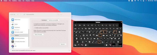 tastiera accessibile mac