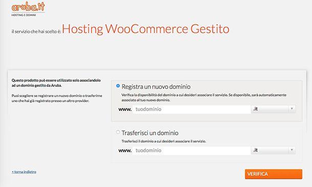 Come funziona ecommerce con WooCommerce Gestito Aruba