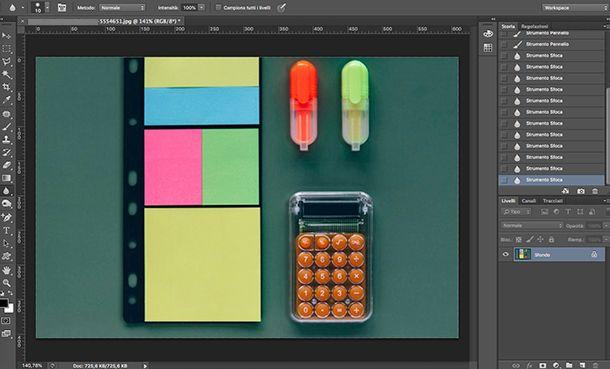 Come fare le ombre su Photoshop strumenti Pennello e Sfoca