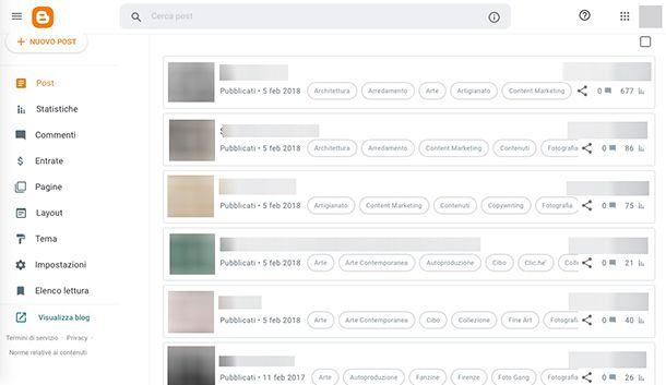 Come strutturare un sito Web personale con Blogger