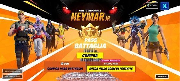 Pass Battaglia Neymar Jr