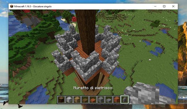 Muretto di pietrisco Minecraft