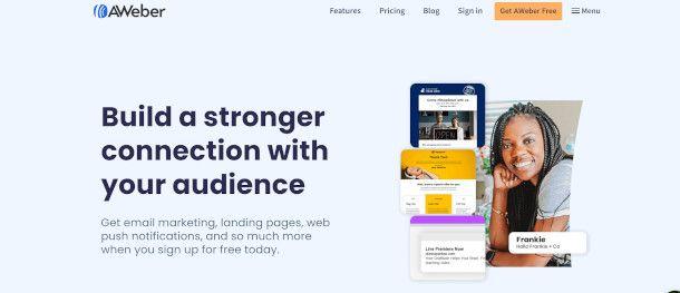 home page AWeber