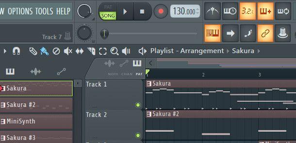 modalità song FL Studio