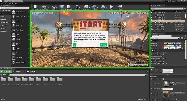 Muovere telecamera Unreal Engine 4