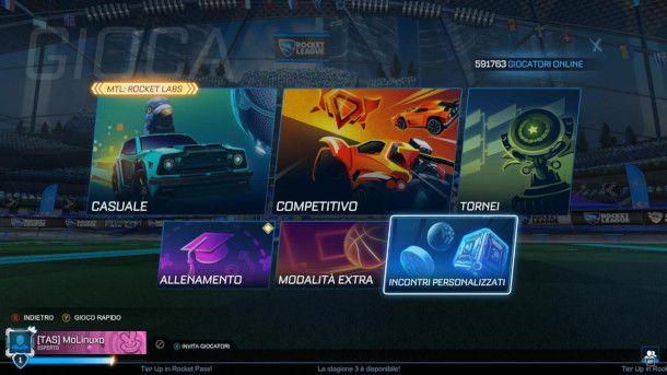 Modalità di gioco di Rocket League