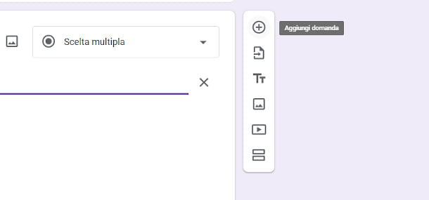 barra degli strumenti google moduli