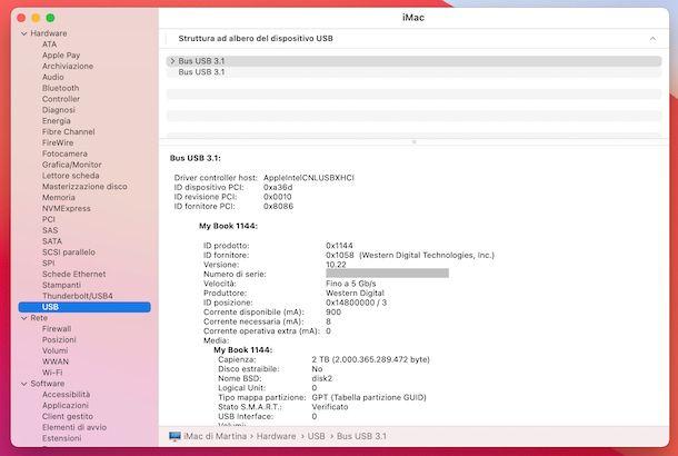 Informazioni macOS