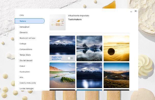 impostazione sfondo Chromebook