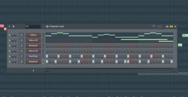 channel rack sezione ritmica