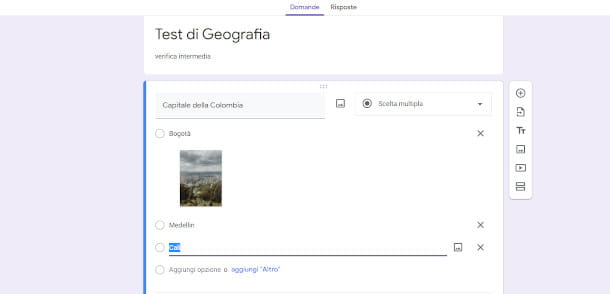Selezione multipla Google Moduli