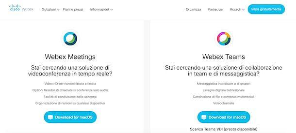 Come funziona webinar con Cisco Webex Meetings