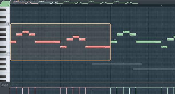 schermata piano roll fl studio