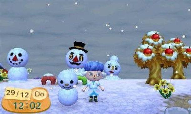 Pupazzi di neve in Animal Crossing: New Leaf