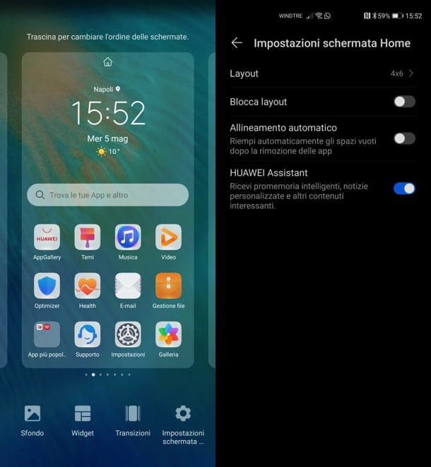Layout Huawei