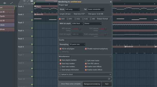 export FL Studio