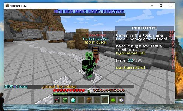 Hypixel Server Minecraft