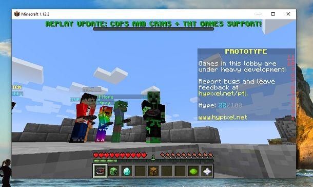 Nascondere nome Minecraft