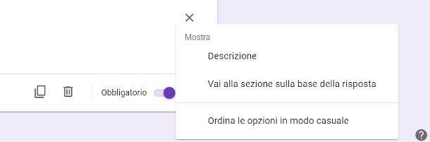 pulsanti comando Google Moduli