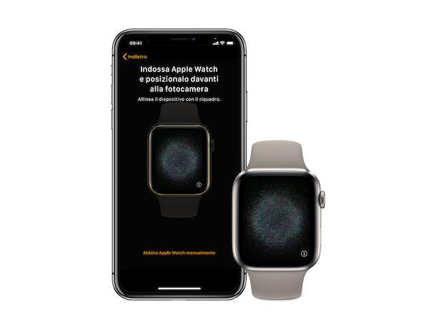 Abbinamento Apple Watch