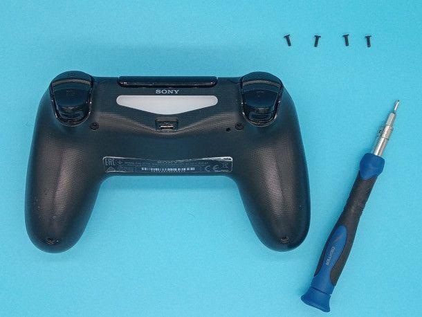 rimozione viti controller PS4