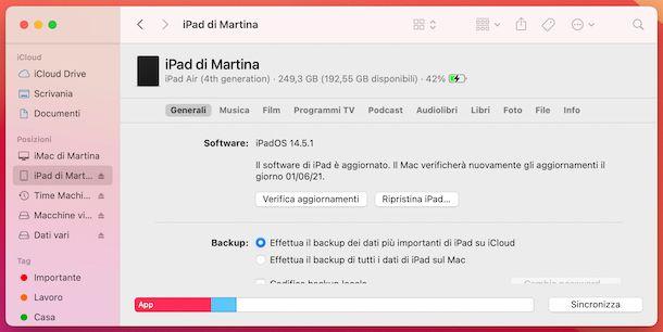 iPad Finder macOS